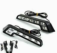 abordables -Feux de Circulation Diurnes Ampoules électriques LED Haute Performance 6 W 6 Pour Universel Tous les modèles Toutes les Années 2 pièces
