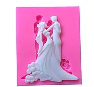 abordables -couple de mariage moule de silicone outils de décoration fondant au chocolat moule gumpaste