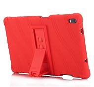 abordables -téléphone Coque Pour Lenovo Coque Arriere Lenovo Tab 4 8 Plus Avec Support Rayé Motif Couleur Pleine Flexible Silicone