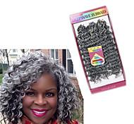 abordables -Crochet Tresses De Cheveux Ondulation profonde Tresses de boîte Cheveux Synthétiques Court Rajouts de Tresses 3 pièces / paquet