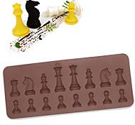 abordables -Moule de gâteau de silicone de chocolat d'échecs de 16 cavités faisant cuire le fabricant de crème glacée