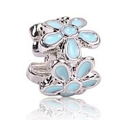 economico -Gioielli fai-da-te 1 pezzi Perline Zirconi Lega Nero Azzurro chiaro Fiore decorativo perlina 0.5 cm Fai da te Collana Bracciali