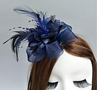 economico -Pelle / A rete fascinators / Fiori / cappelli con Con Piume / in pelliccia / Fantasia floreale 1pc Matrimonio / Occasioni speciali / Corsa di cavalli Copricapo