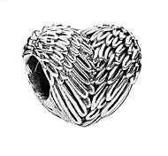 economico -Gioielli fai-da-te 1 pezzi Perline Lega Argento Cuori perlina 0.5 cm Fai da te Collana Bracciali