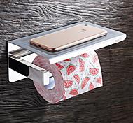 economico -porta carta igienica mensola da bagno moderna in acciaio inox a parete con porta cellulare argento 1pz