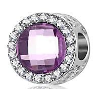 economico -Gioielli fai-da-te 1 pezzi Perline Cristallo Diamanti d'imitazione Lega Viola Royal Blue Tonda perlina 0.2 cm Fai da te Collana Bracciali