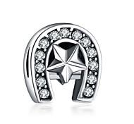 economico -Gioielli fai-da-te 1 pezzi Perline Diamanti d'imitazione Lega Bianco Viola Irregolare perlina 0.2 cm Fai da te Collana Bracciali