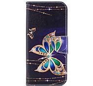 economico -telefono Custodia Per Samsung Galaxy Integrale Custodia in pelle Porta carte di credito S9 S9 Plus S8 Plus S8 Bordo S7 S7 A portafoglio Porta-carte di credito Con supporto Farfalla Resistente pelle