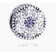 economico -Gioielli fai-da-te 1 pezzi Perline Diamanti d'imitazione Lega Argento Tonda perlina 0.2 cm Fai da te Collana Bracciali