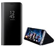 economico -telefono Custodia Per Samsung Galaxy Integrale A5(2018) A3 A5 A7 (2017) A8 2018 A8+ 2018 A7 Con supporto A specchio Con chiusura magnetica Tinta unita Resistente PC