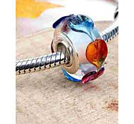 economico -Gioielli fai-da-te 1 pezzi Perline Vetro Lega Argento Tonda perlina 0.2 cm Fai da te Collana Bracciali