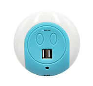 abordables -BRELONG® 1pc Prise murale A détecteur / Double USB / Elégant 220-240 V