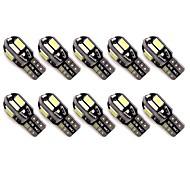 abordables -Automatique LED Feux de position latéraux T10 Ampoules électriques 50 lm SMD 5630 1 W 8 Pour Universel Toutes les Années 10 pièces