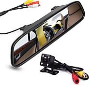 abordables -ZIQIAO 4.3 pouce TFT-LCD CCD Kit de vue arrière de voiture Vision nocturne pour Automatique