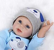 abordables -NPKCOLLECTION 22 pouce NPK DOLL Poupée Reborn Bébé réaliste Mignon Fabrication à la main Tissu Membres en silicone 3/4 et corps rempli de coton 55cm cadeaux noël enfant avec vêtements et accessoires