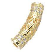 economico -Gioielli fai-da-te 1 pezzi Perline Diamanti d'imitazione Lega Oro Argento Oro rosa Tube Shape perlina 0.5 cm Fai da te Collana Bracciali