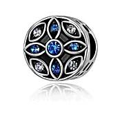 economico -Gioielli fai-da-te 1 pezzi Perline Diamanti d'imitazione Lega Argento Tonda Cuori perlina 0.2 cm Fai da te Collana Bracciali