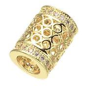 economico -Gioielli fai-da-te 1 pezzi Perline Diamanti d'imitazione Lega Oro Argento Oro rosa Cilindro perlina 0.5 cm Fai da te Collana Bracciali