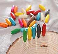 economico -Gioielli fai-da-te 30 pezzi Perline Legno-Plastico Composito Arcobaleno Tonda perlina 0.8*0.23 cm Fai da te Collana Bracciali