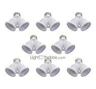 economico -8pcs E27 a E27 E27 Accessorio lampadina Plastica Presa lampadina 100 W