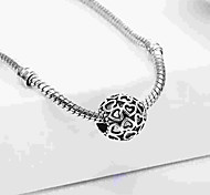 economico -Gioielli fai-da-te 1 pezzi Perline Lega Argento Ovale perlina 0.5 cm Fai da te Collana Bracciali