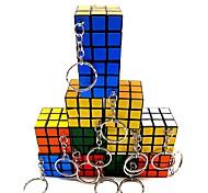 abordables -Ensemble de cubes de vitesse 12 pcs Cube magique Cube QI 3*3*3 Cubes Magiques Anti-Stress Casse-tête Cube Brillant Avec une Chaîne de clé Professionnel Enfant Adulte Jouet Cadeau / 14 ans et +
