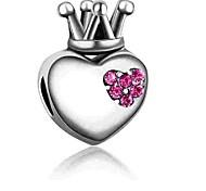 economico -Gioielli fai-da-te 1 pezzi Perline Diamanti d'imitazione Lega Fucsia Blu Cuori perlina 0.2 cm Fai da te Collana Bracciali