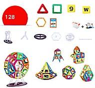 abordables -Blocs Magnétiques Carreaux magnétiques Blocs de Construction Briques de construction 128 pcs Architecture Personnes Véhicules Transformable Interaction parent-enfant contemporain Classique / Enfant