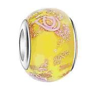 economico -Gioielli fai-da-te 1 pezzi Perline Vetro colorato Lega Giallo Blu Rosa Chiaro Tonda perlina 0.5 cm Fai da te Collana Bracciali