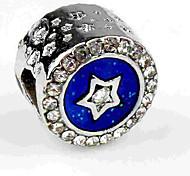 economico -Gioielli fai-da-te 1 pezzi Perline Diamanti d'imitazione Lega Royal Blue Tonda perlina 0.5 cm Fai da te Collana Bracciali