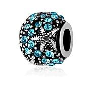 economico -Gioielli fai-da-te 1 pezzi Perline Diamanti d'imitazione Lega Bianco Blu Tonda perlina 0.2 cm Fai da te Collana Bracciali