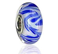 economico -Gioielli fai-da-te 1 pezzi Perline Vetro colorato Lega Royal Blue Tonda perlina 0.2 cm Fai da te Collana Bracciali