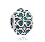 economico -Gioielli fai-da-te 1 pezzi Perline Diamanti d'imitazione Lega Bianco Verde Tonda perlina 0.2 cm Fai da te Collana Bracciali