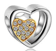 economico -Gioielli fai-da-te 1 pezzi Perline Diamanti d'imitazione Lega Giallo Royal Blue Cuori perlina 0.2 cm Fai da te Collana Bracciali