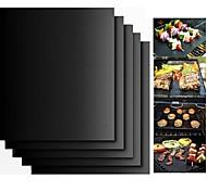 abordables -2pcs épais ptfe barbecue tapis anti-adhésif barbecue réutilisable tapis de gril feuille feuille de gril bbq doublure