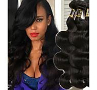 abordables -Lot de 3 Tissage de cheveux Cheveux Indiens Ondulé Extensions de cheveux humains Cheveux Naturel Rémy 100% faisceaux d'armure de cheveux remy 300 g Tissages de cheveux humains Extensions de cheveux