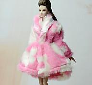 economico -Accessori della bambola Vestiti per le bambole Abito da bambola Vestito per bambola Cappotto per bambole Abito da matrimonio Party / serata Cappottini Matrimonio Da principessa Con onde Multicolor