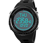 economico -Per uomo Orologio sportivo Orologio militare Digitale Digitale Casuale Resistente all'acqua Sveglia Cronografo / Un anno / Di similpelle trapuntata / Giapponese