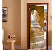 abordables -Paysage Stickers Muraux Chambre, Pré-coller PVC Décoration d'intérieur Stickers muraux