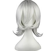 economico -Parrucche sintetiche Liscio Kardashian Dritto Parrucca 13 cm Argento Capelli sintetici Bianco