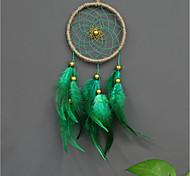 abordables -Boho dream catcher cadeau fait à la main tenture murale décor art ornement artisanat plume perle 40 * 11 cm pour enfants chambre mariage festival