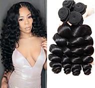abordables -Lot de 4 Tissage de cheveux Cheveux Brésiliens Ondulation Lâche Extensions de cheveux Naturel humains Cheveux Naturel Rémy Paquets de 100% Remy Hair Weave 400 g Tissages de cheveux humains Extensions