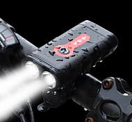 abordables -LED Eclairage de Velo Eclairage de Vélo Avant LED Vélo Cyclisme Imperméable Avec Quick Charge 2.0 Batterie rechargeable 1200 lm Batterie Li intégrée Blanc Cyclisme / Alliage d'Aluminium
