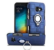 abordables -téléphone Coque Pour Samsung Galaxy Coque Arriere A5 Rotation à 360 ° Antichoc Anneau de Maintien Couleur Pleine Dur PC
