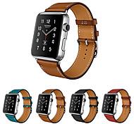 economico -Cinturino intelligente per Apple  iWatch 1 pcs Cinturino di pelle Vera pelle Sostituzione Custodia con cinturino a strappo per Apple Watch Serie SE / 6/5/4/3/2/1 38 millimetri 40 mm 42 millimetri 44mm