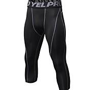 abordables -Homme Jambières Capri Running Pantalon de Compression Collants courts de course Athlétique Corsaire Vêtements de compression Elasthanne Aptitude Exercice Physique Faire des exercices Exercice