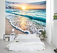 abordables -tapisserie murale art décor couverture rideau pique-nique nappe suspendu maison chambre salon dortoir décoration paysage plage mer océan vague sunrise sunrise
