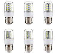 abordables -BRELONG® 6pcs 3W 270lm E14 E26 / E27 Ampoules Maïs LED 24 Perles LED SMD 5730 Blanc Chaud Blanc 220-240V