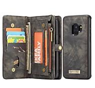 economico -telefono Custodia Per Samsung Galaxy Integrale Custodia in pelle Porta carte di credito S9 A portafoglio Porta-carte di credito Con supporto Tinta unica Resistente vera pelle