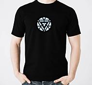 voordelige -LED T-shirts Glans Puhdasta puuvillaa LED Informeel 2 AAA Batterijen